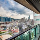 Panoramic-Dreibettzimmer, Mehrere Betten, Balkon - Blick vom Balkon