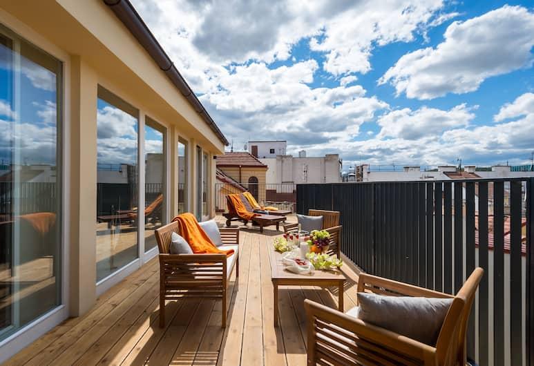 EMPIRENT Mucha Apartments, Prag, Luxury Apart Daire, 5 Yatak Odası, Teras/Veranda