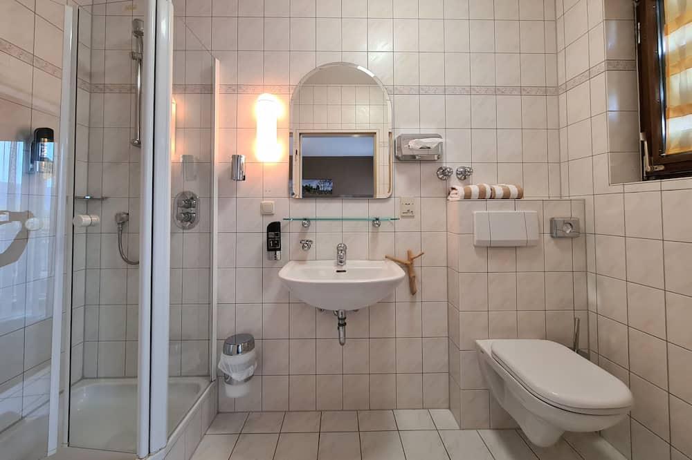 Double Room Single Use (French Balcony) - Bathroom