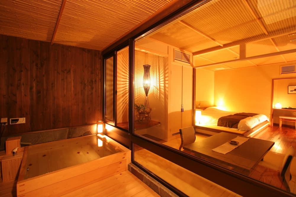 Traditional-Zimmer, Raucher, Whirlpool (Modern Japanese Style, Japanese Futon) - Zimmer