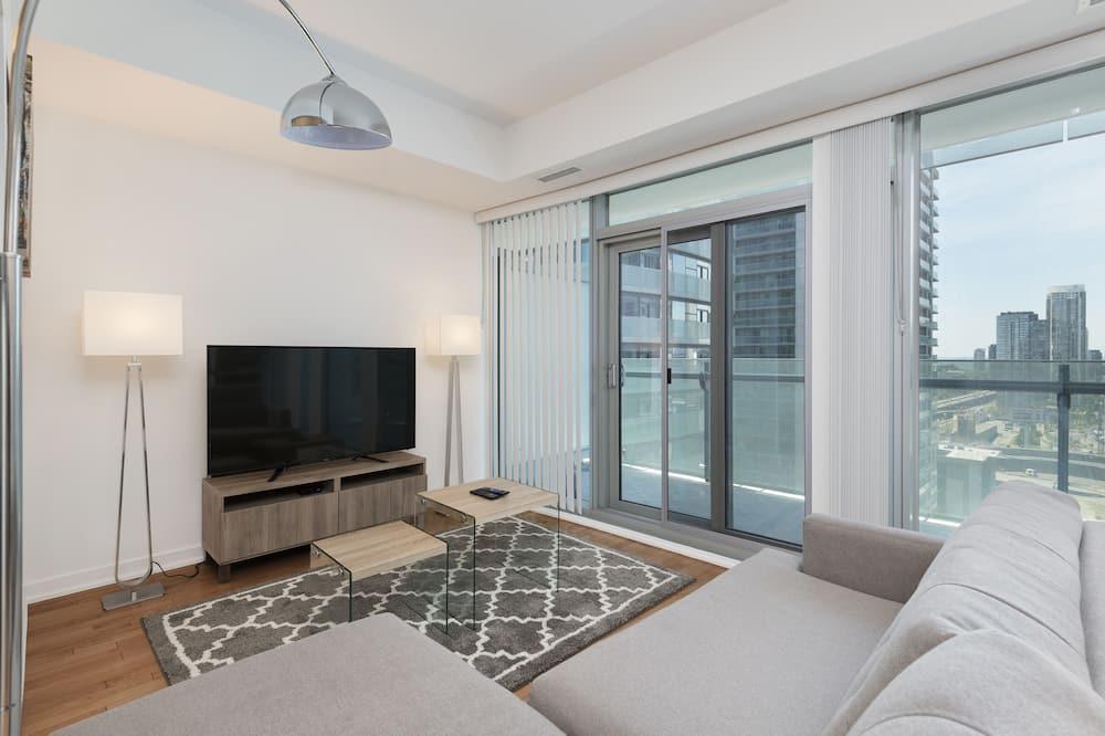 Condominio Deluxe, 1 habitación, vista a la ciudad - Sala de estar