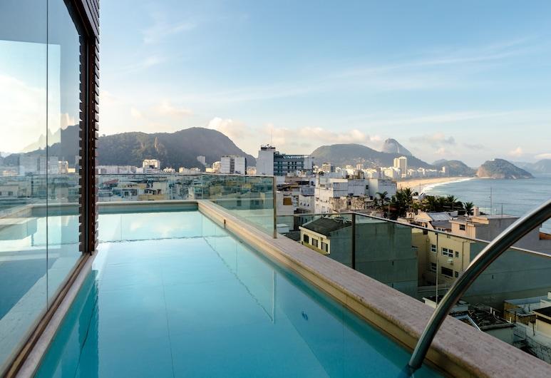 Ritz Copacabana Boutique Hotel, Rio de Janeiro, Takterrasse med basseng