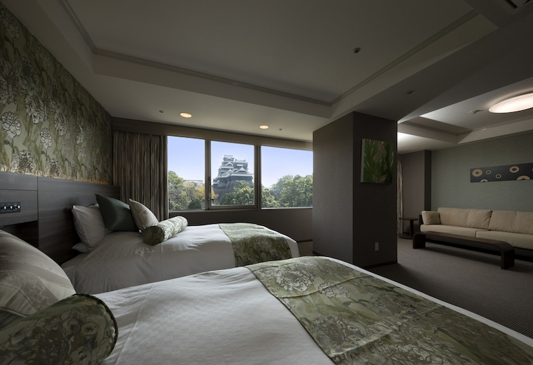 KKR Hotel Kumamoto, Kumamoto, Pokoj Deluxe se dvěma jednolůžky (Castle View), Pokoj