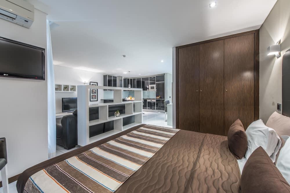 豪華開放式套房, 陽台 - 客廳