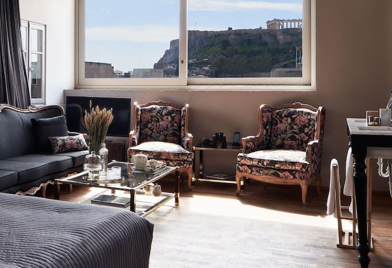 Emporikon Athens Hotel, Atėnai, Numeris verslo klientams (Double, Acropolis View ), Vaizdas iš svečių kambario