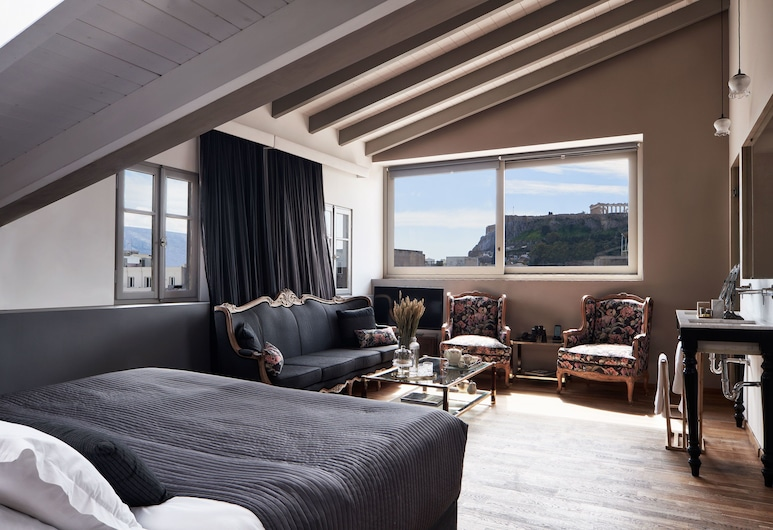 Emporikon Athens Hotel, เอเธนส์, ห้องเอ็กเซกคิวทีฟสวีท (Double, Acropolis View ), ห้องพัก
