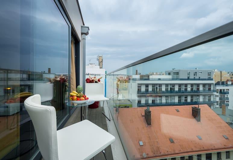 EMPIRENT Karlin Apartments, Praag, Superior appartement, 2 slaapkamers, terras, Balkon