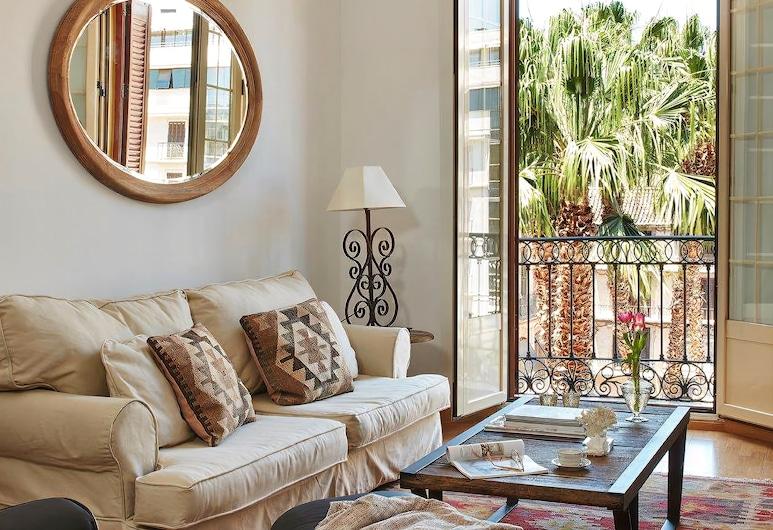 Lodgingmalaga Plaza de la Constitución, Málaga, Appartement, 1 slaapkamer, Balkon (Adults Only), Woonruimte