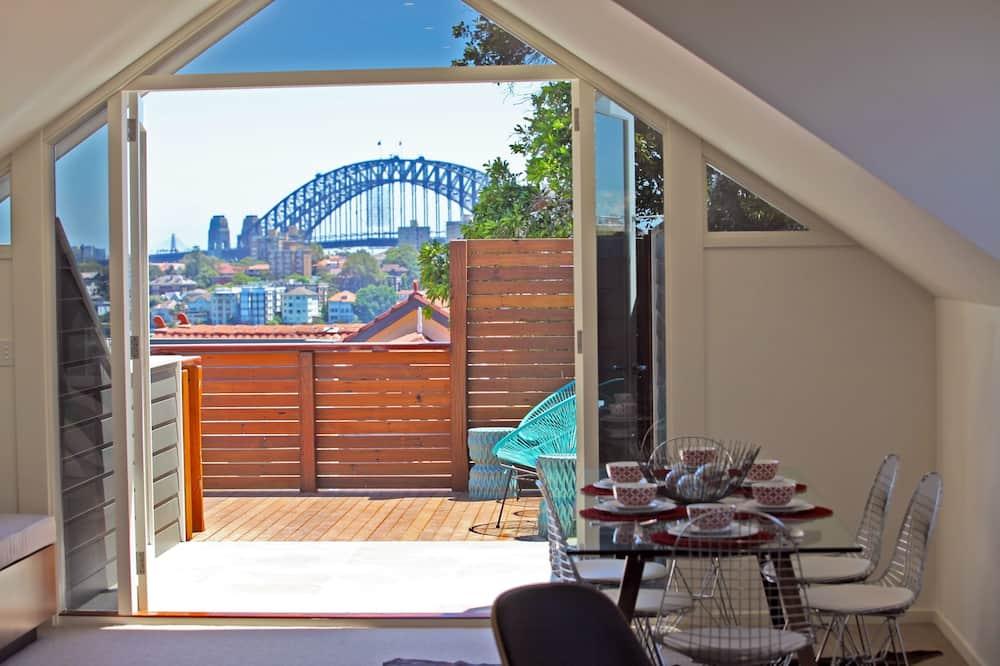 Luxe penthouse, 2 slaapkamers, uitzicht op haven - Eetruimte in kamer