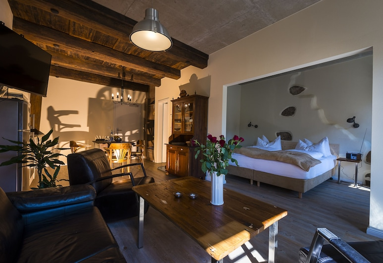 Appart.Bog2, Görlitz, Club studio suite, balkon, pogled na vrt, Dnevni boravak