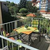 Premium-Apartment, 1 Doppelbett, Balkon, Gartenblick - Balkon