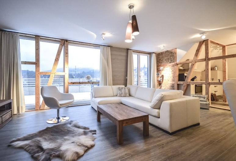 Stadt Chalet, Braunlage, Superior Apartment with Sauna - 14, Wohnzimmer