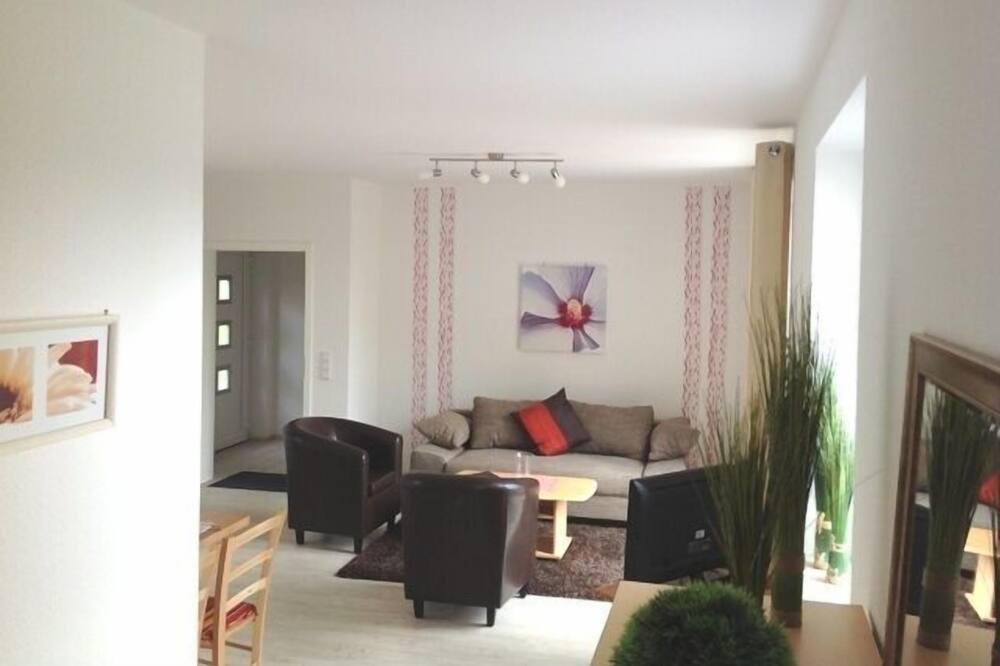豪華公寓, 2 間臥室, 非吸煙房, 露台 (4-5 Personen) - 客廳