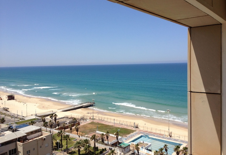 Isralux Apartmets, Bat Yam, Luxusný apartmán, 1 spálňa, kuchynka, výhľad na more, Izba