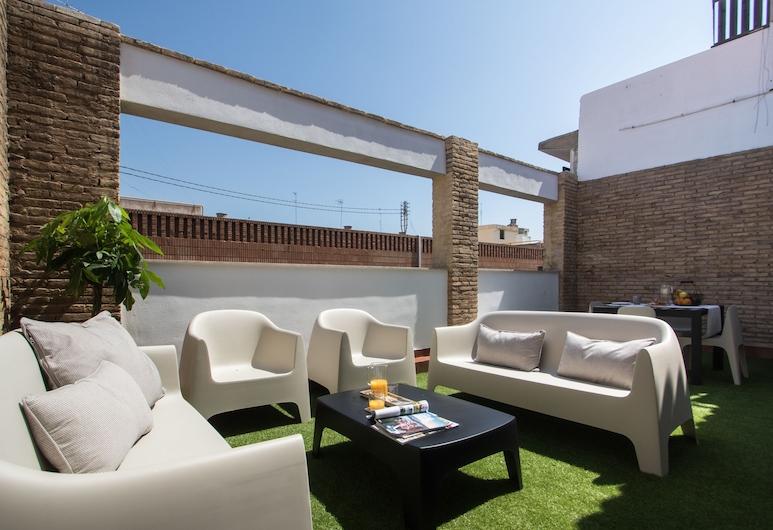Flatsforyou Marina, Valencia, Ateliérový apartmán, 2 spálne, terasa, Terasa
