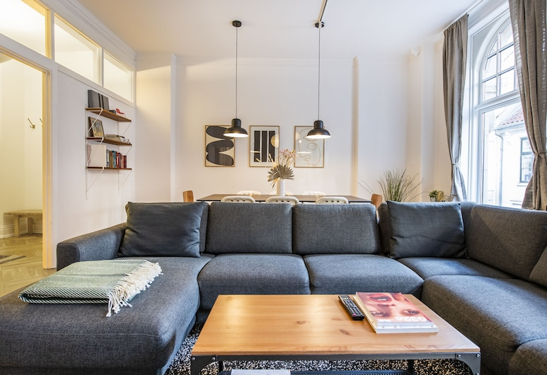 Central 4 bedroom apt. for big groups, קופנהגן, Apartment, 4 Bedrooms, Kitchen, אזור מגורים