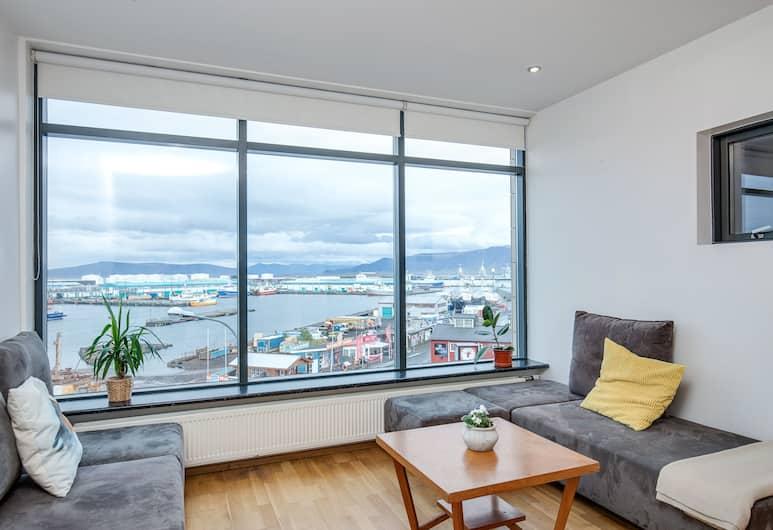 101 Apartments, Reykjavík, Íbúð - 1 svefnherbergi - sjávarsýn, Stofa
