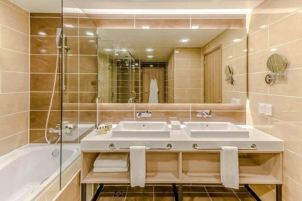 スイート キングベッド 1 台ソファーベッド付き 禁煙 - バスルーム