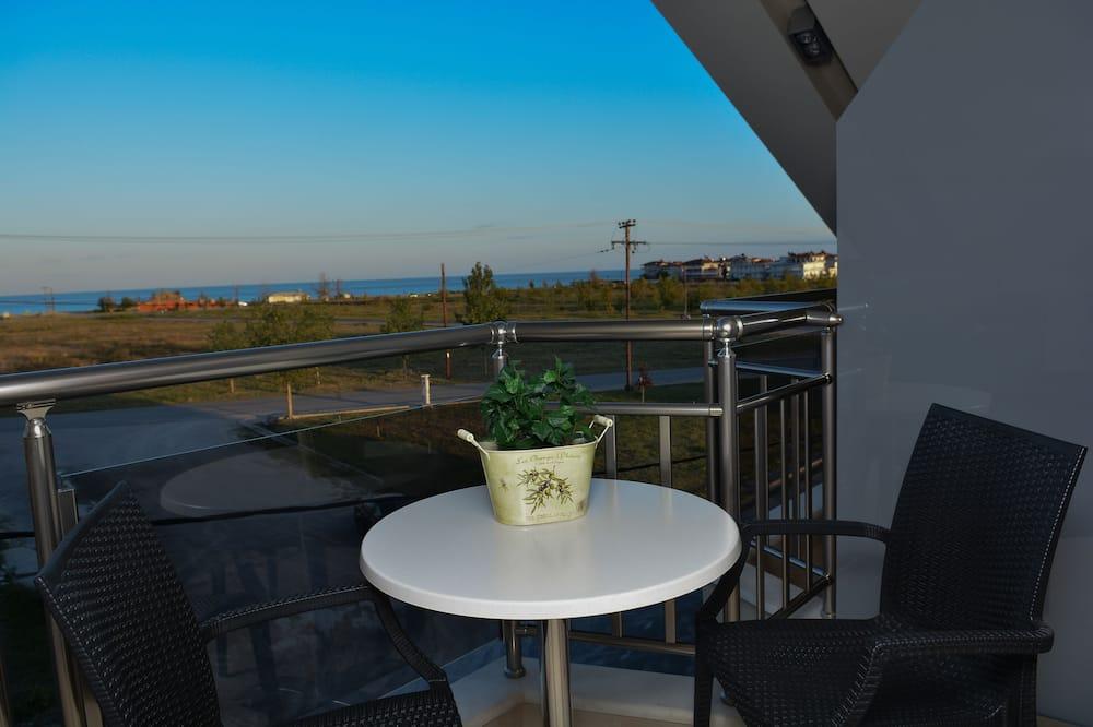 Paaugstināta komforta divvietīgs numurs, skats uz jūru - Balkons