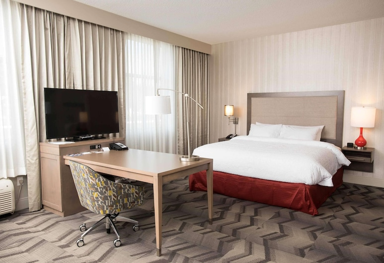Hampton Inn & Suites by Hilton Thunder Bay, Тандер-Бей, Студія, 1 ліжко «кінг-сайз», для некурців, холодильник та мікрохвильова піч, Номер