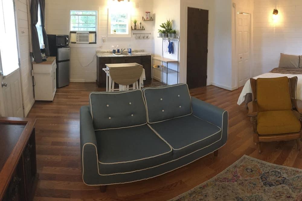 豪華小屋, 1 張加大雙人床, 簡易廚房, 湖景 - 客廳