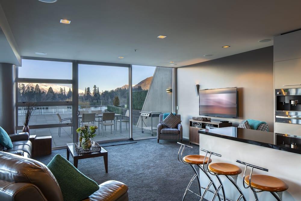 Apartemen Eksekutif, 3 kamar tidur, pemandangan danau (Shotover) - Area Keluarga