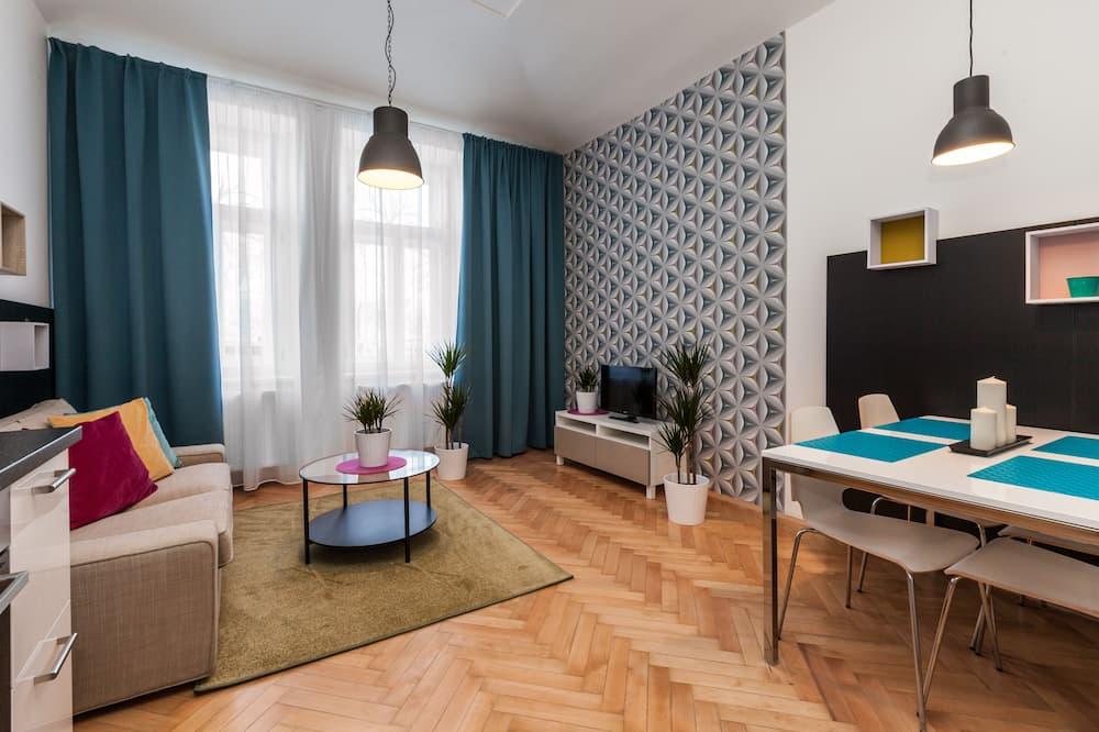 Superior Apartment, 1 Bedroom (2 Adults) - Living Room