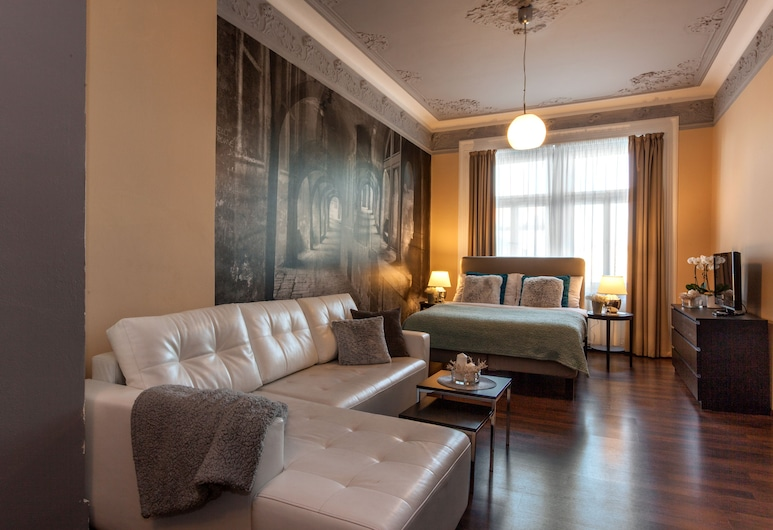 Prague Holiday Apartments, Prague, Executive Family 2  Bedroom Apartment with Balcony (5 Adults), Living Area