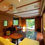 חדר דה-לוקס טווין (with private hot spring, Non Smoking) - אזור מגורים