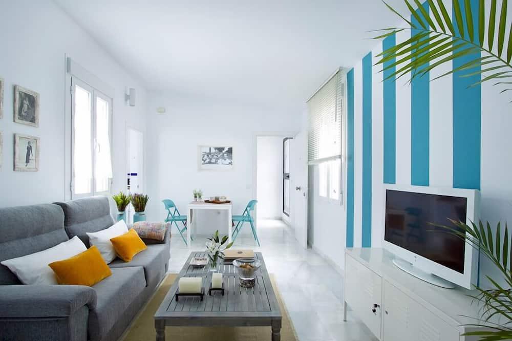 apartman, 1 hálószobával, terasz - Nappali