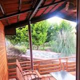Chambre Double « Premier », 1 très grand lit, vue jardin, côté jardin - Balcon