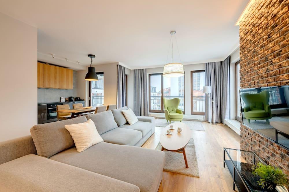 公寓, 1 間臥室, 河景 (4 Adults) - 客廳