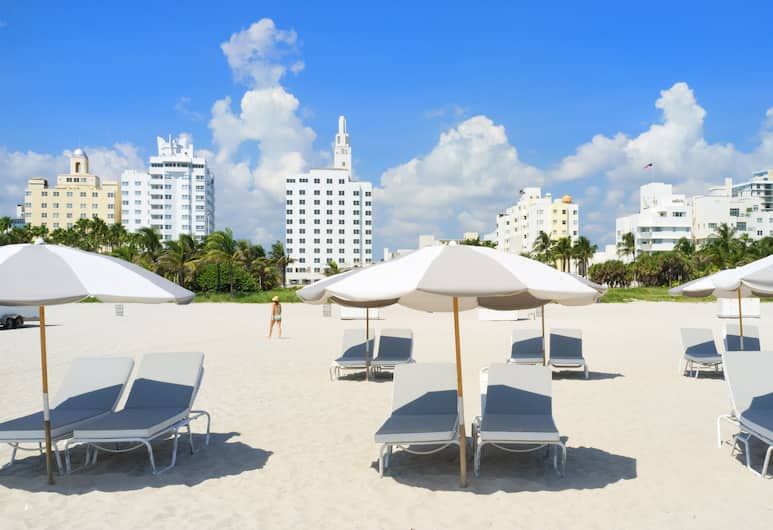 Urbanica The Meridian Hotel, Miami Beach, Pláž
