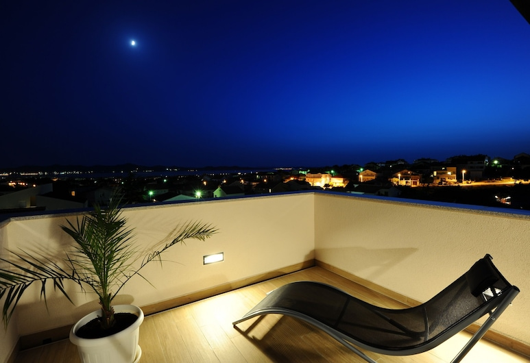 Apartments Hills, Zadar, Štúdio, terasa, výhľad na more, Balkón