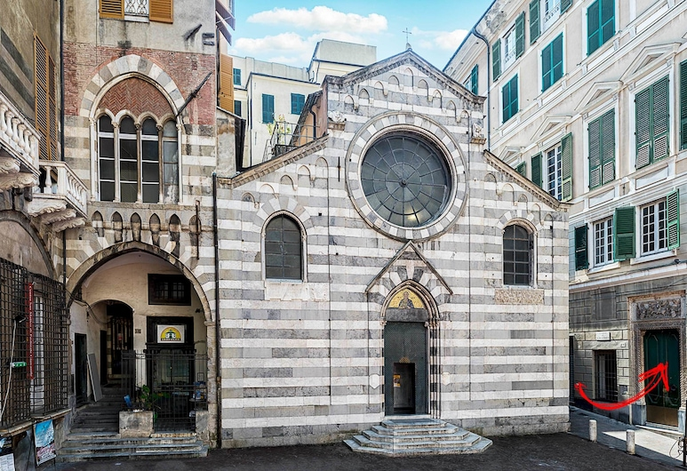 La Piazzetta Rooms, Genova, Ingang van hotel