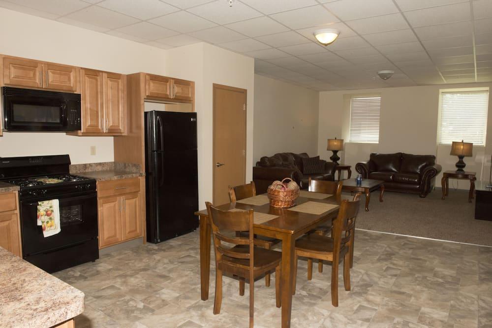 เอ็กเซกคิวทีฟอพาร์ทเมนท์, 1 ห้องนอน, ห้องครัว - ครัวในห้องพัก