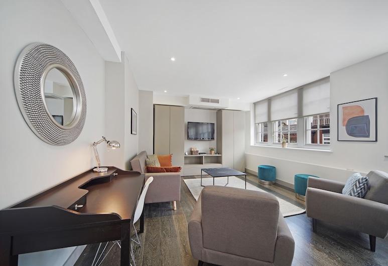 西敏 2 床豪華公寓酒店 - 附免費 Wi-Fi 和空調, 倫敦, 特級公寓, 2 間臥室, 露台, 客廳