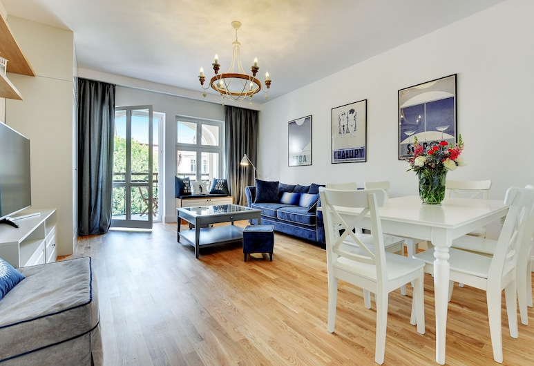 Lion Apartments - Monte Deluxe, Sopot, Apartmán typu Deluxe, 2 spálne, nefajčiarska izba, Obývacie priestory