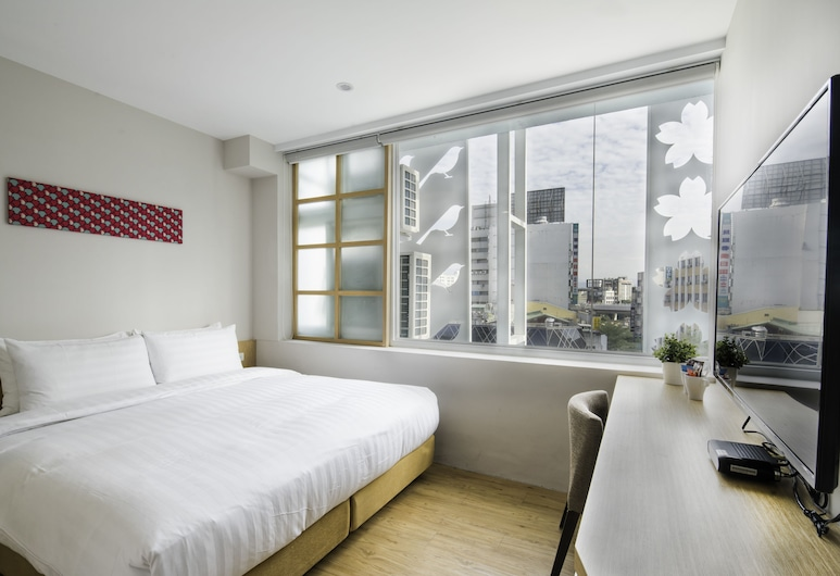 新盛橋行旅, 台中市, 豪華雙人房, 1 張特大雙人床, 客房