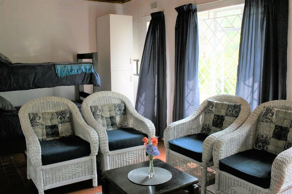 Executive faház, 2 hálószobával, kilátással a kertre, kerti - Nappali rész