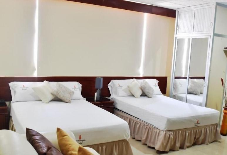 샌프란시스코 아파트 호텔, 과야킬, 패밀리 쿼드룸, 침실 1개, 전용 욕실, 객실