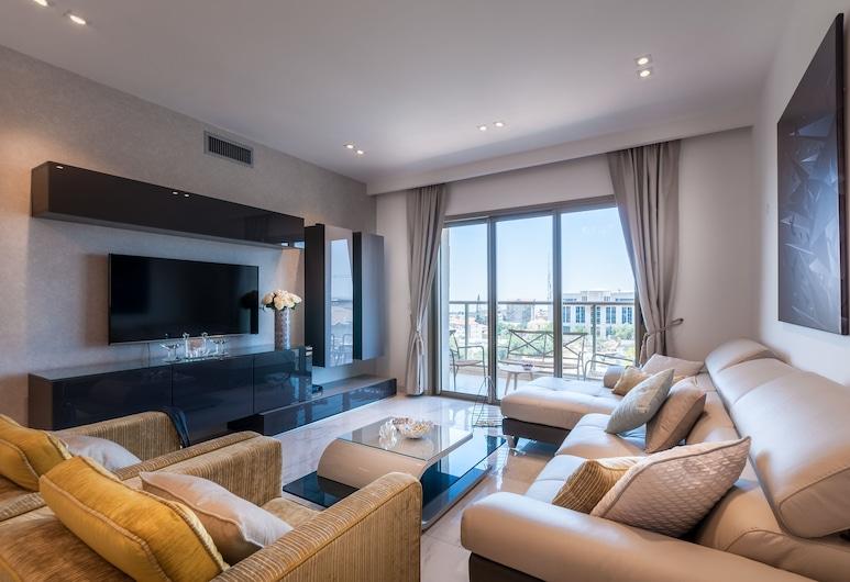 Sweet Inn - Haneviim Court, Jeruzalem, Apartmán s panoramatickým výhľadom, 2 spálne, výhľad na mesto, Obývačka