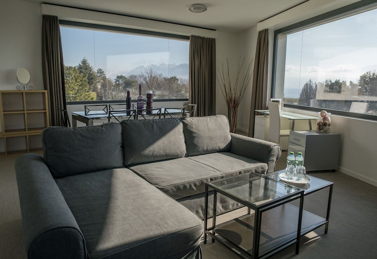 Appart'Hotel 46a, Lausanne, Suite, Lake View, Living Room