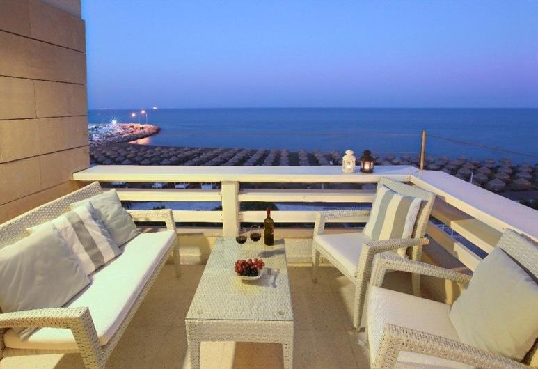 Mackenzie Seafront Suite, Larnaca, Apartamentai, Balkonas