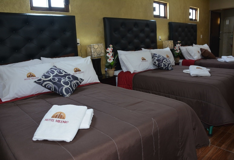 Hotel Milenio, Nanacamilpa, Trokrevetna soba, Soba za goste