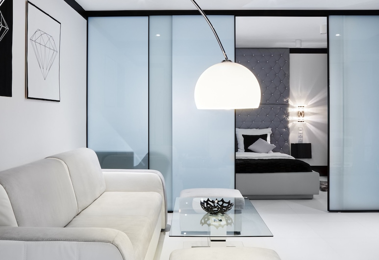 Diamonds Apartment, Krokuva, Prabangaus stiliaus apartamentai, 1 miegamasis, Svetainės zona