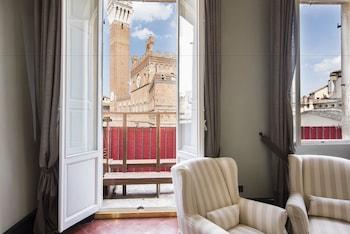 Siena bölgesindeki La Terrazza sul Campo resmi