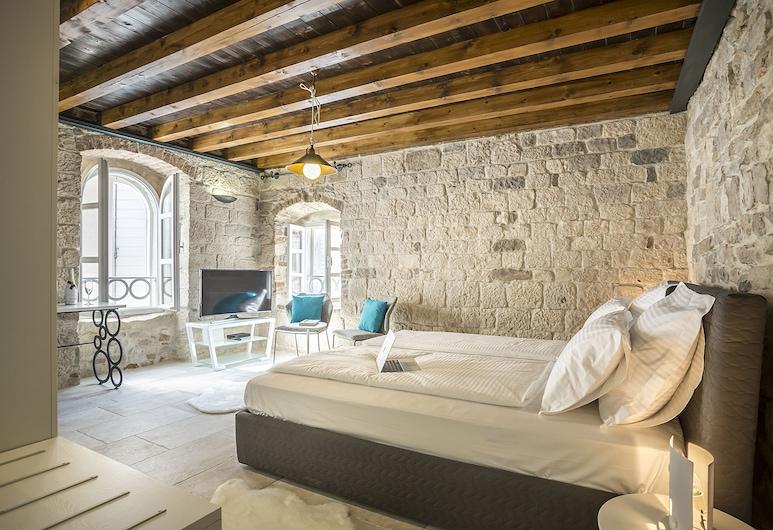 Bella Notte Di Spalato, Split, Deluxe-dobbeltværelse - byudsigt (Mare), Værelse