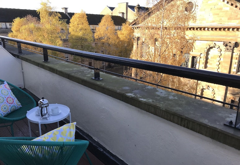 St Andrews Square Apartments, Glasgow, Ateliérový apartmán, 2 spálne, balkón, výhľad na mesto, Balkón