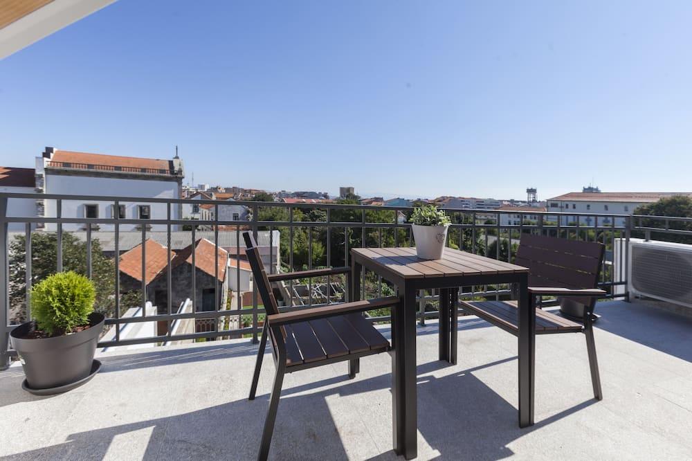 高級樓中樓客房, 露台, 花園景 - 露台